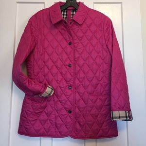 Burberry Constance Quilted Jacket in Rasberry
